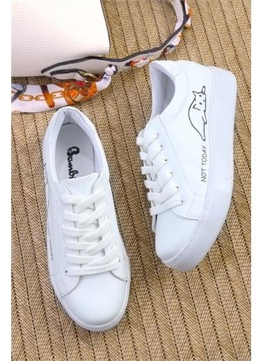 Bambi Kadın Sneaker K01836004009 Beyaz
